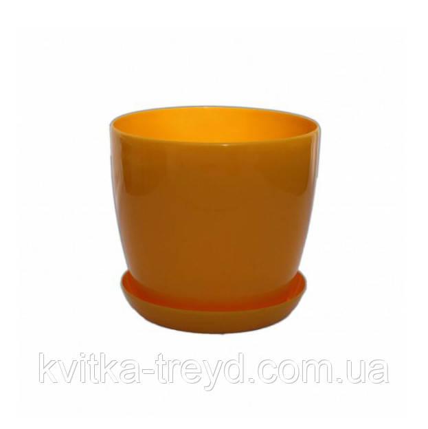 Цветочный горшок Глянец 0.8л Темно-Желтый