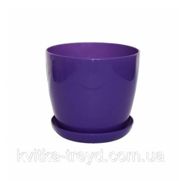 Цветочный горшок Глянец 0.8л Фиолетовый