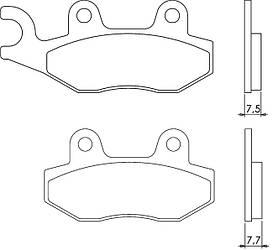 Современные органические тормозные колодки для Вашей мототехники BRENTA 3070