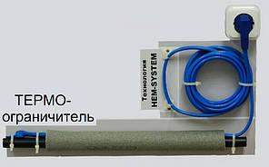 Двухжильный нагревательный кабель FS 120 W - 12 m со встроенным термостатом Hemstedt , фото 2