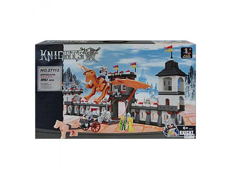 Конструктор AUSINI 27112 Облога замку Сила лицаря , 951 деталей , в кор-ке, 64-43,5-9см
