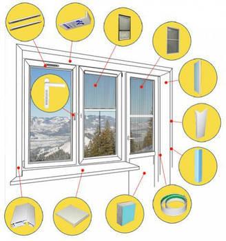 Комплектуючі для вікон і дверей