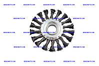 Щетка дисковая Intertool - 115 мм, плетеная