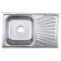Врезная кухонная мойка Platinum 78*48*18 Satin 0.8 , фото 1