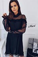 Нежное платье с сеткой 845