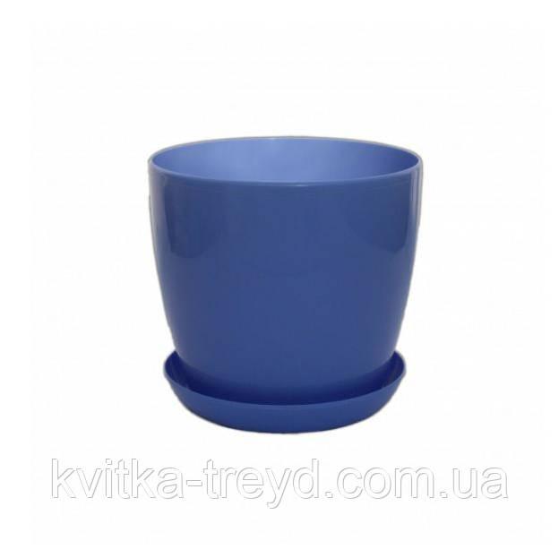 Цветочный горшок Глянец 2.2л Голубой