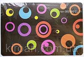 Яркие пластиковые салфетки-подложки для защиты стола без основы 6шт в наборе
