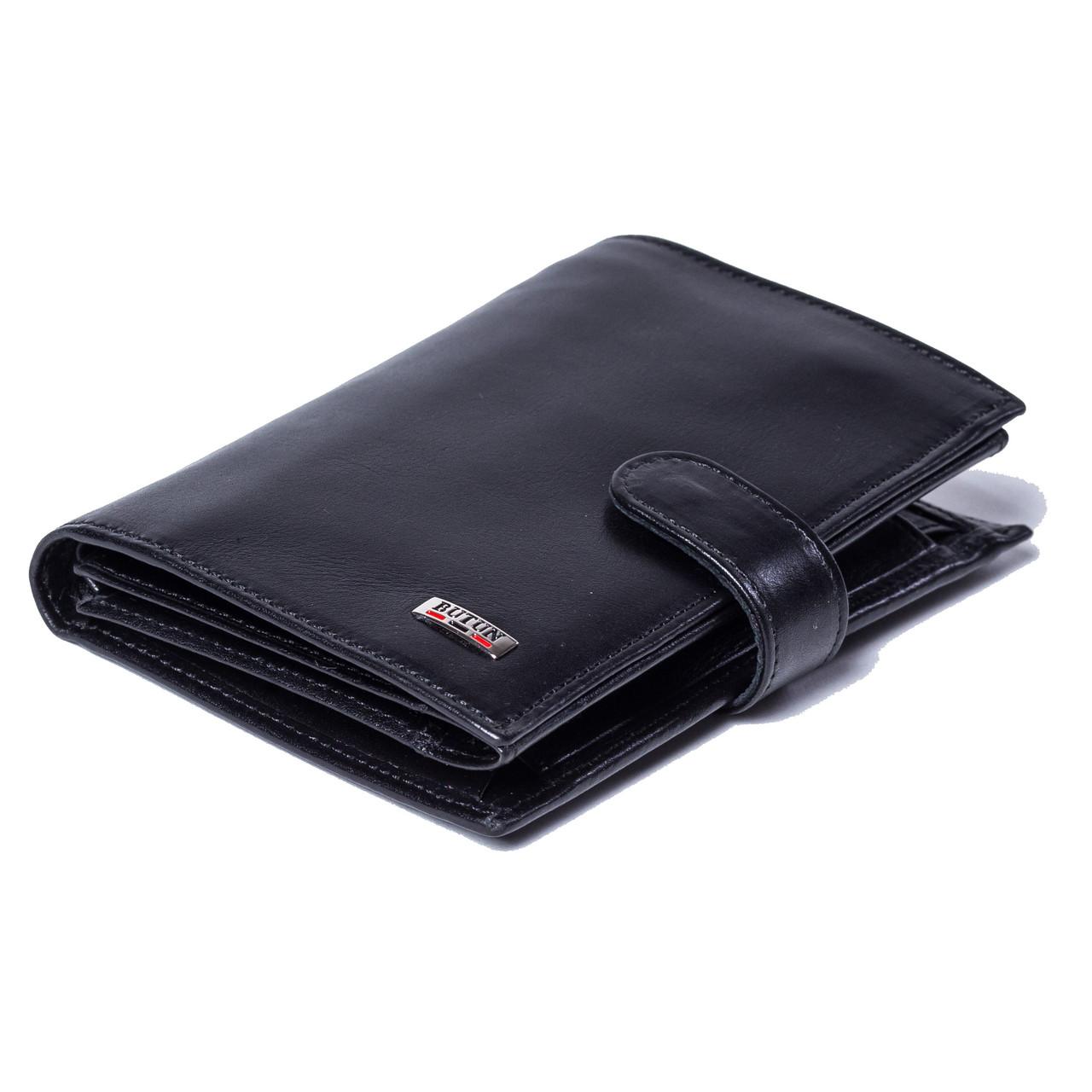 Чоловічий гаманець BUTUN 186-024-001 шкіряний чорний