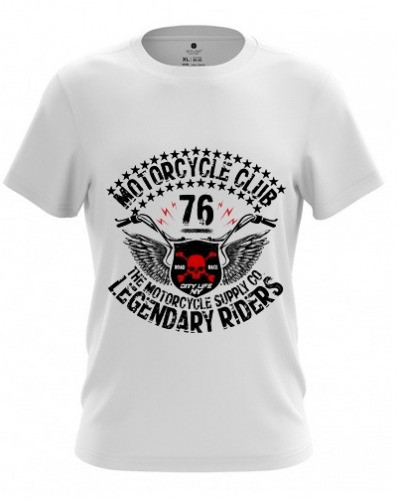"Молодежная футболка ""MOTORCYCLE 76""  (FB-003)"
