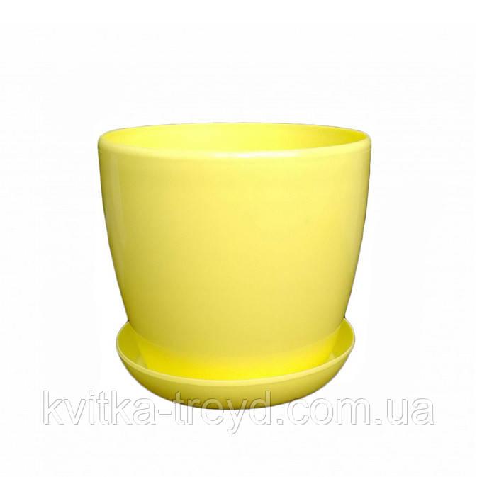 Цветочный горшок Глянец 3.3л Лимонный