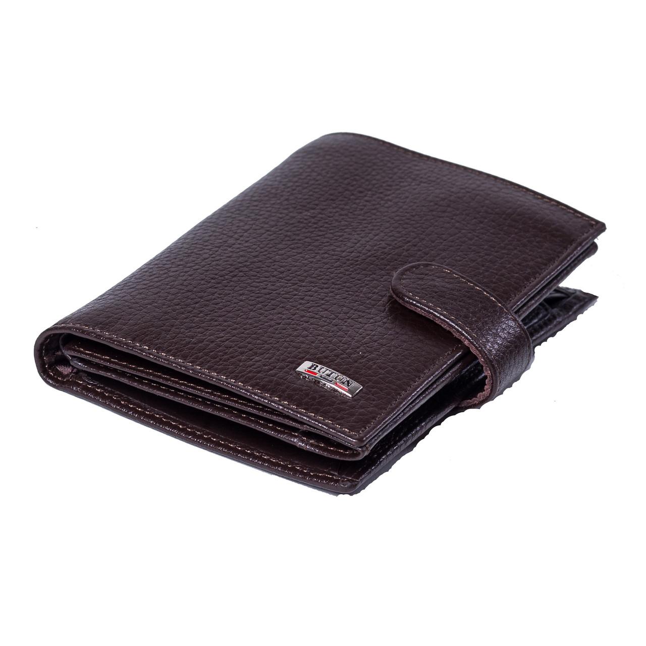 Мужской кошелек BUTUN 186-004-004 кожаный темно-коричневый