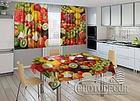 """Фото комплект для кухни """"Фрукты и овощи"""""""
