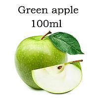 Жидкость для электронных сигарет со вкусом  Зелёное яблоко с дозатором в пластиковой ПЭТ таре ёмкостью 100мл  6мг (может перебивать вкус)