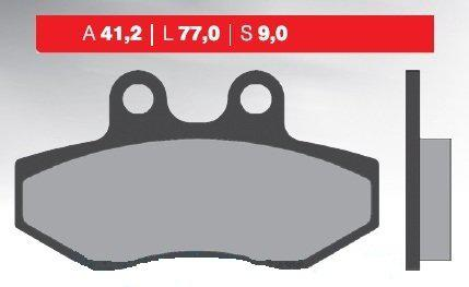 Надежные тормозные колодки для мототехники (органические) BRENTA 3077
