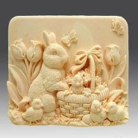 Кролик с цыплятами