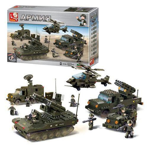 """Конструктор Sluban M38-B7000, Сухопутные войска """"Подразделение ПВО""""  956 деталей"""