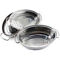 Гусятница / жаровня Bergoff Cook&Co с крышкой-сковородой 4.2 л