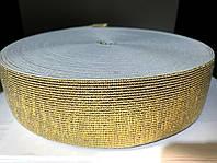 Резинка 50 мм (25 м) золото