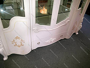 Витрина (сервант для посуды) 4-х дв. в классическом стиле, гостиная Arcadia 8627 (Аркадия) Евродом, фото 2