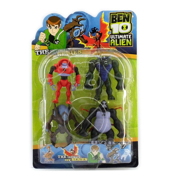 Ben ten Бен Тен 4 світяться фігурок 5 серії - Обезьяно павук+Гумангозавр+Полум'яний