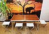 Стол + 4 стула комплект для кемпинга, туризма, сада, стол туристический, фото 6