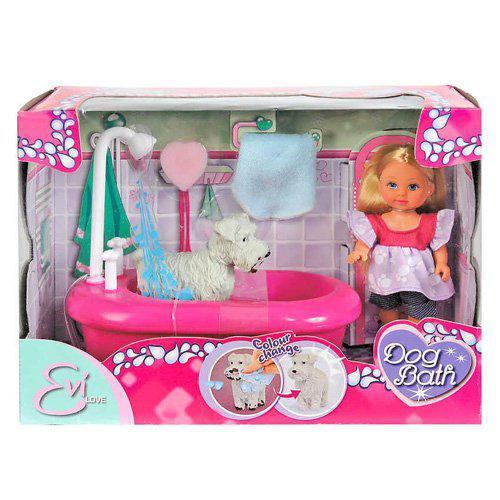 Кукла Evi Эви Ева с набором для купания песика Simba 5733094