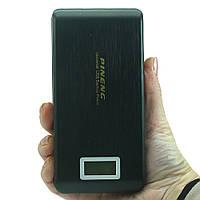 Зарядний пристрій для портативної техніки Повербанк Pineng PN-929 на 15000 мАһ 2 USB порту Оригінал Чорний