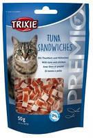 Trixie TX-42731 PREMIO Tuna Sandwiches 50г -лакомство для кошекс тунцом и курицей, фото 2