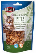 Trixie TX-42704 PREMIO Chicken Octopus Bites 50г - лакомство для кошек с курицей и осьминогом