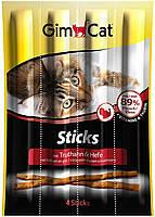 GimCat Sticks Turkey колбаски для кошек с индейкой 4шт, фото 2