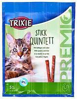 Trixie TX-42724 Premio Stick Quintett 5шт - палочки для кошек птица-печень