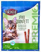 Trixie TX-42724 Premio Stick Quintett 5шт - палочки для кошек птица-печень, фото 2