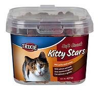 Trixie TX-42733 Soft Snack Kitty Stars 140г- мягкие звездочки для кошек с лососем и ягненком