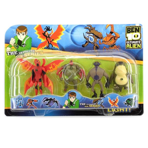 Ben ten Бен Тен  4 светящихся фигурок 5 серии - Крылатый+Обезьяно паук+Блевака+ Рук