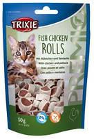 Trixie TX-42702 PREMIO Fish Chicken Rolls 50г - рулетики для кошек с курицей и минтаем, фото 2