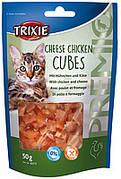 Trixie TX-42717  PREMIO Cheese Chicken Cubes 50г-лакомство с курицей