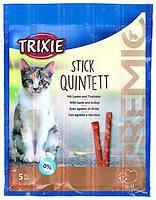 Trixie TX-42723 Premio Stick Quintett 5шт - палочки ягненок-индейка для кошек, фото 2