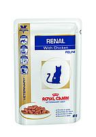 Royal Canin Renal Feline 85гр *12шт паучи с курицей -диета при почечной недостаточности у кошек