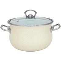 Эмалированная кастрюля infinity sce p150b люкс с крышкой 24 см 6.5 литра cream (6367516)