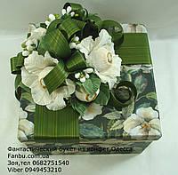 """Цветочная подарочная коробочка со сладостями и кофем""""Давидофф"""""""", фото 1"""