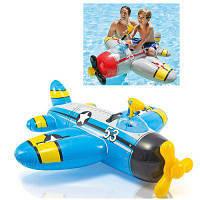 Плотик детский надувной Самолет с водяным оружием Intex 57537
