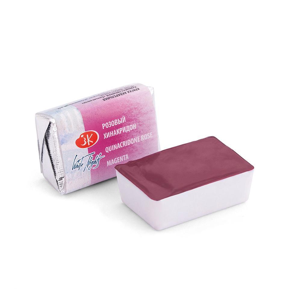 Акварельная краска Белые Ночи в кюветах 2.5 мл.Розовый хинакридон 1911324