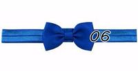 Детская синяя повязка мини-бантик на голову для девочки от рождения до 99 лет