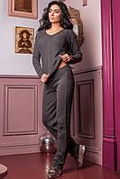 Костюм женский вязанный Регина Графит, фото 1