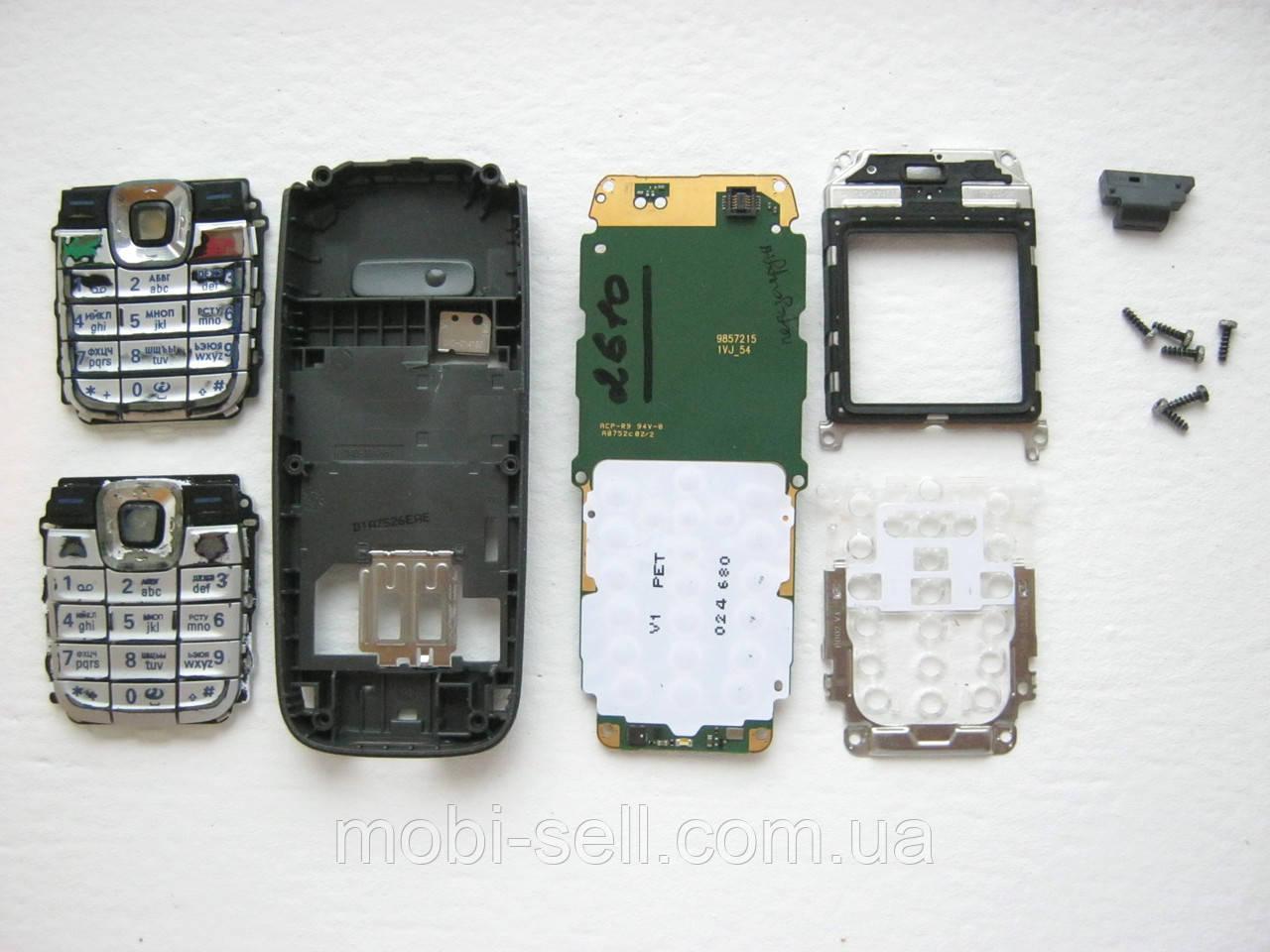 Запчасти для Nokia 2610 (плата, средняя часть корпуса, светофильтр, рамка дисплея, клавиатура