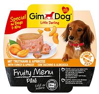 GimDog Little Darling Fruity Menu (консерва) Паштет из индейки с абрикосом 100 г*8шт, фото 2