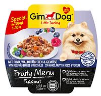 GimDog Little Darling Fruity Menu (консерва) Рагу из говядины, лесных ягод и овощей 100 г*8шт, фото 2