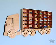 Полка-Грузовик в детскую комнату для моделей автомобилей