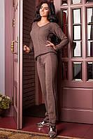 Костюм женский вязанный Регина (капучино), фото 1