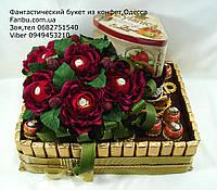 """Подарок  из шоколада,чая и конфет""""Поляна красных роз"""", фото 1"""